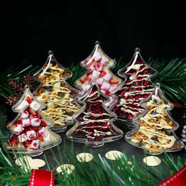 Set of 3 Chocolate Christmas Tree Decorations